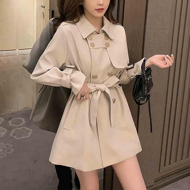 【送料無料】3color♪ミニトレンチコート 大人っぽ 女っぽ スタイリッシュ アウター ジャケット コート