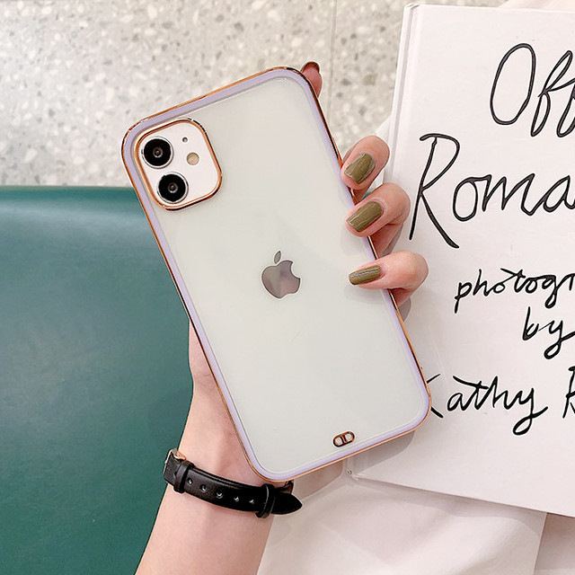 Side gold color iphone case
