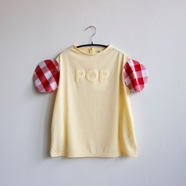 《frankygrow 2020SS》2DOTS POP T-SHIRT ONE-PIECE / yellow / S・M・L