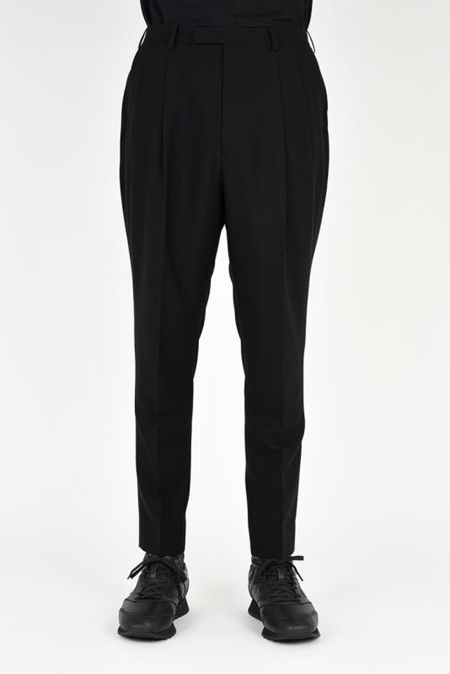 LAD MUSICIAN【ラッドミュージシャン】2TUCK JODHPURS SLIM SLACKS(BLACK).