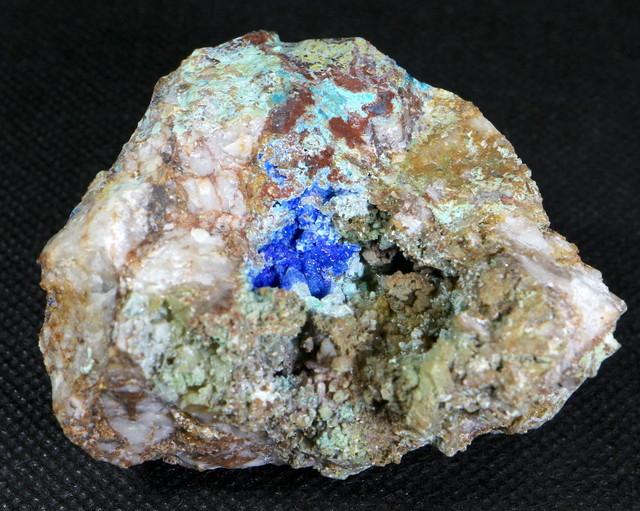カリフォルニア産 リナライト + カレドナイト Linarite (青鉛鉱) 121,3g LN015 鉱物 原石 天然石 パワーストーン