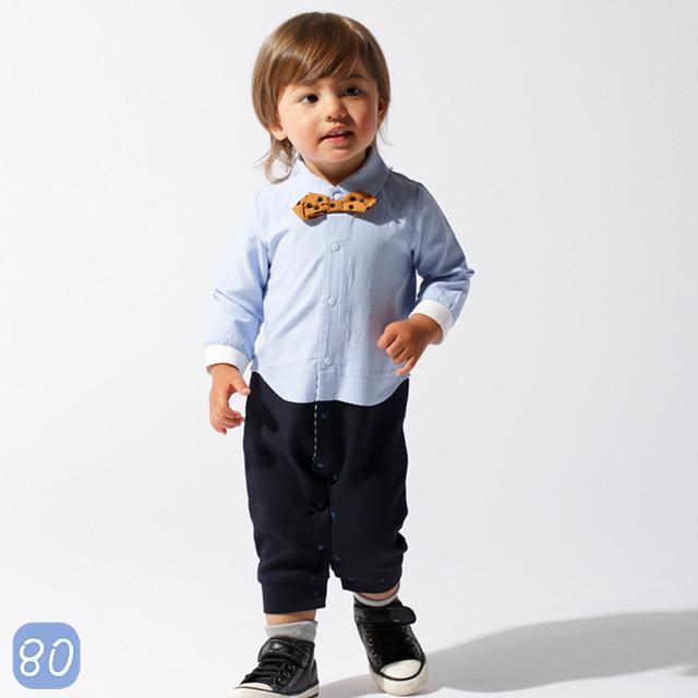 おめかし BOY ロンパース カバーオール ベビー 赤ちゃん 80cm