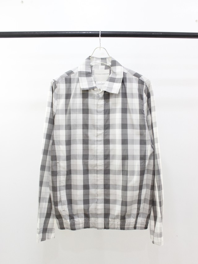 Used STEPHAN SCHNEIDER block check shirt blouson