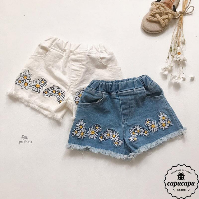 «sold out» daisy denim shorts 2colors