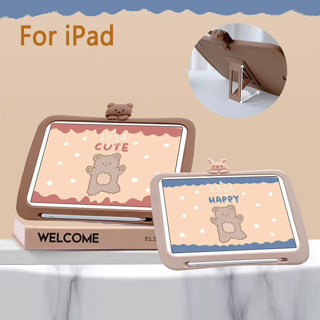 Cute bear ipad case