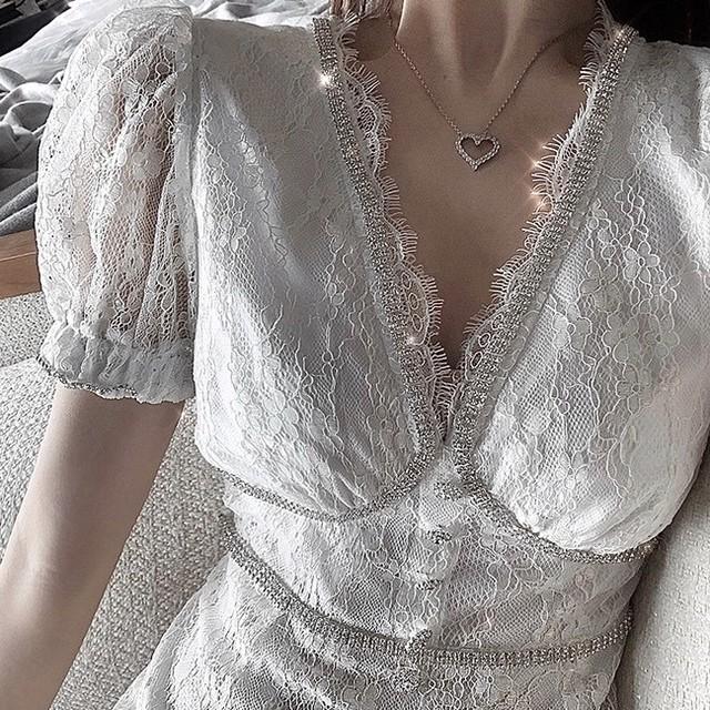glitter bust line dress