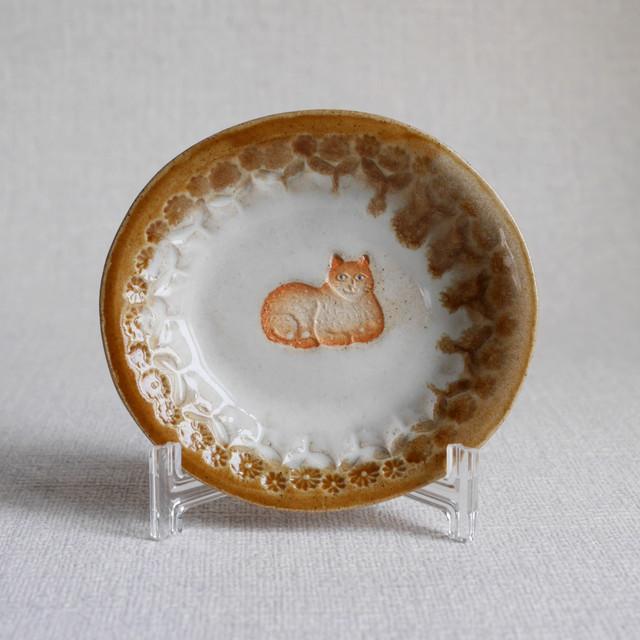 """オーバル飾り小皿 """"Cat"""" ⑧"""