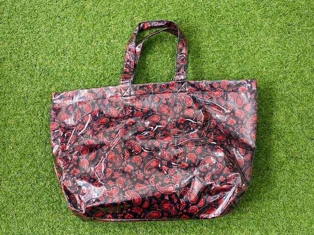 EXAMPLE PAISLEY VINYL TOTE BAG BLACK/RED 15KE5171