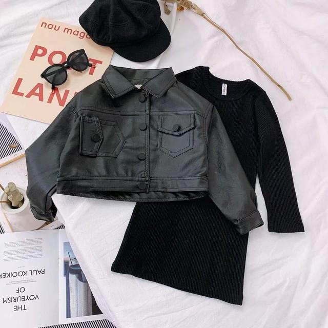 【セット】人気無地長袖ファッション韓国系ガールズ2点セット24803008