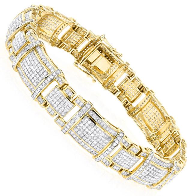 10K GOLD REAL DIAMOND BRACELET  4CT