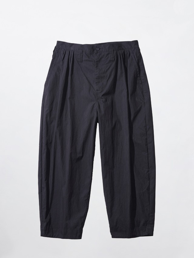 PORTER CLASSIC POPLIN BEBOP PANTS Black  PC-035-1597-10-04