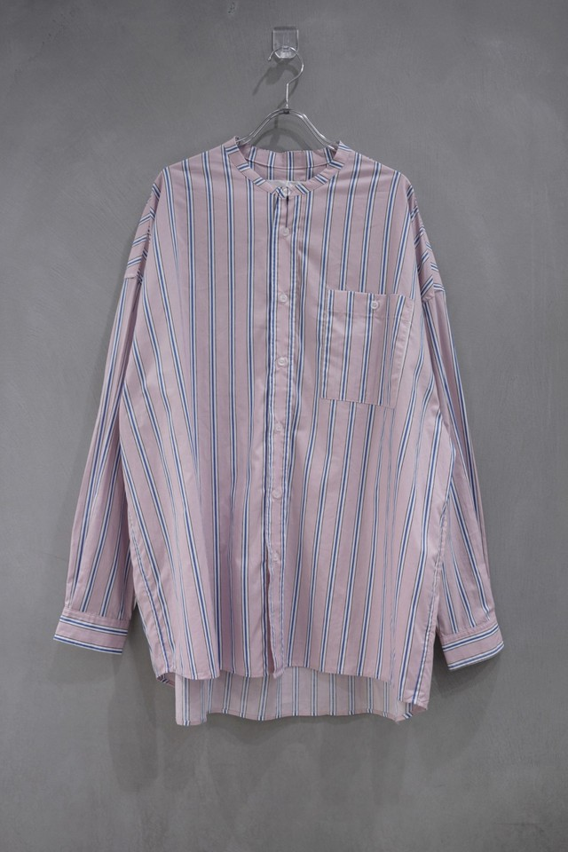 Inter play stand color shirt stripe  pink