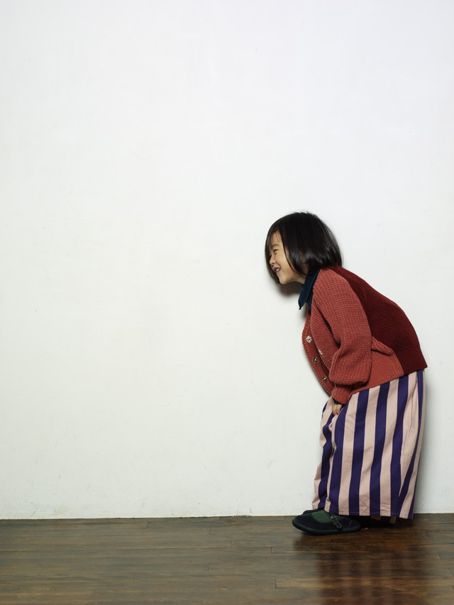folkmade stripe long pants(gray x brown) M・Lサイズ folk made