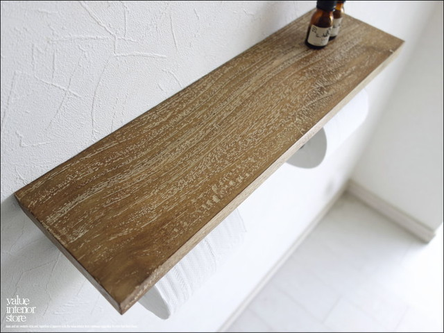 オールドチークトイレットペーパーホルダーWNA トレイペーパーホルダー 天然木 総無垢 古木 一枚板 トイレ用品 ハンドメイド