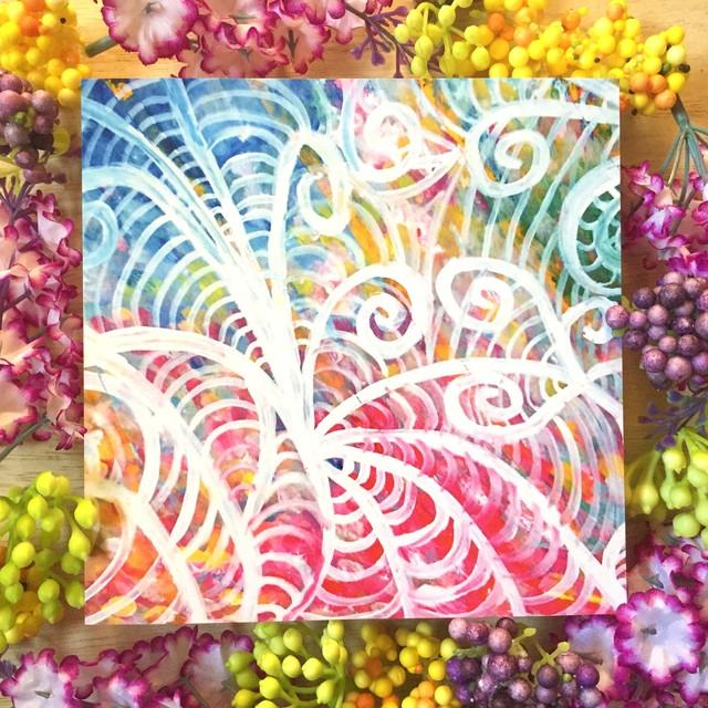 絵画 インテリア アートパネル 雑貨 壁掛け 置物 おしゃれ 抽象画 ロココロ 画家 : ごま 作品 : うごめき