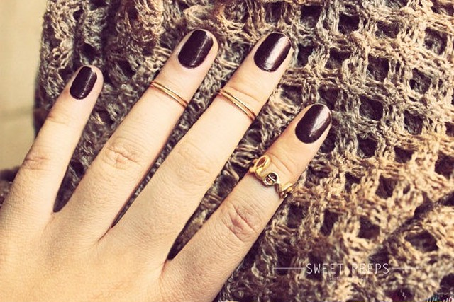 3 Gold LOVE Knuckle Ring