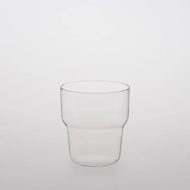 TG glass (ティージーガラス) Glass cup curved (耐熱ガラス) 350ml
