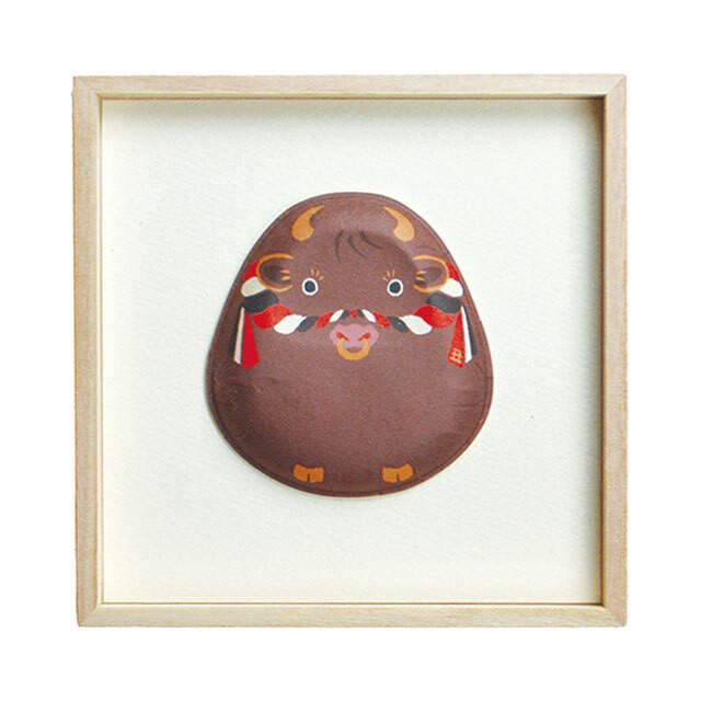 お正月 和紙の縁起物 1種飾り 干支(丑)F01-DA025