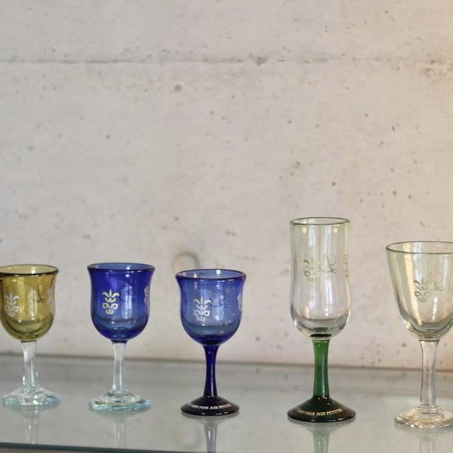 オリジナル琉球ガラス:ワイングラス エンブレム8
