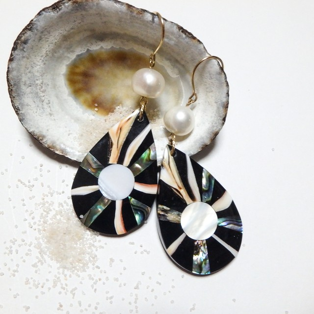 Abalone Shell Drop Pierce