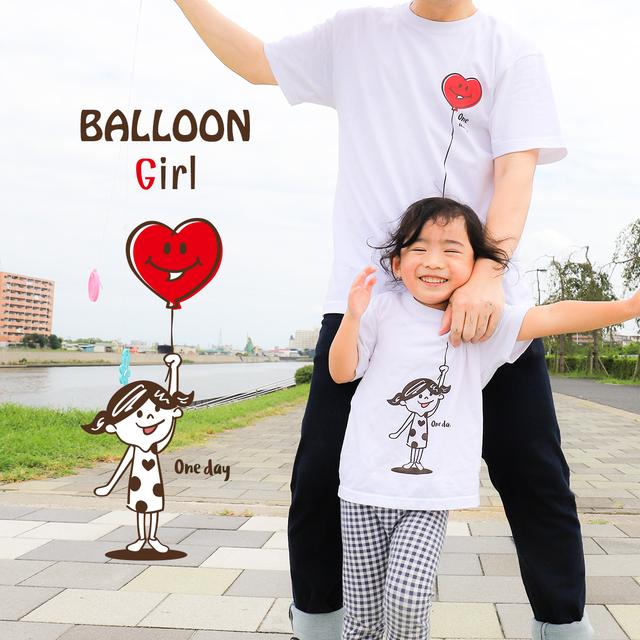 BALLOON Girl & Boy LINKCODEKIDS(おそろい、親子リンクコーデ) Tシャツ