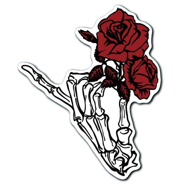 【ステッカー】薔薇に骸骨