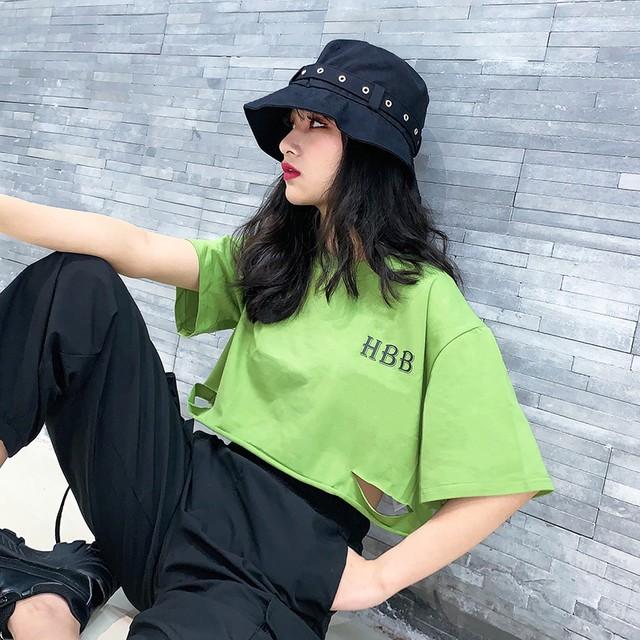 【トップス】ショート丈韓国系半袖ストリート系カジュアルTシャツ43657044