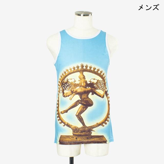 ヨガプリントタンク ナトラジ1 メンズ/ユニ Men's Yoga Print tank top Natraj1