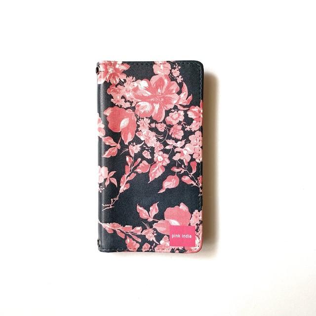 北欧デザイン 手帳型スマートフォンケース [ベルトなし] | iPhone6/7/8/SE(第二世代)兼用 | midnight shadowblue