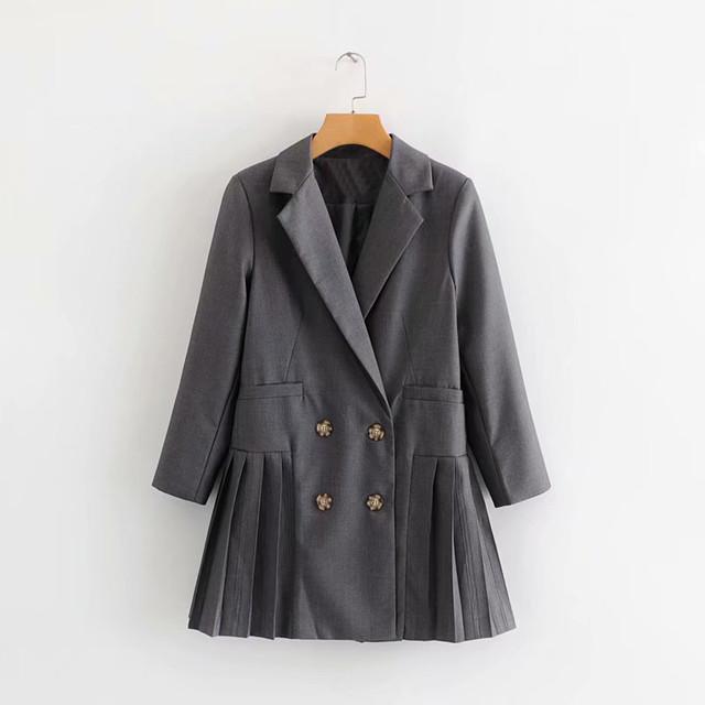 【送料無料】P6175 ジャケット 2色 テーラードジャケット アウター 上着 羽織り 長袖 プリーツ ボックスプリーツ 大人 きれいめ 上品 おしゃれ
