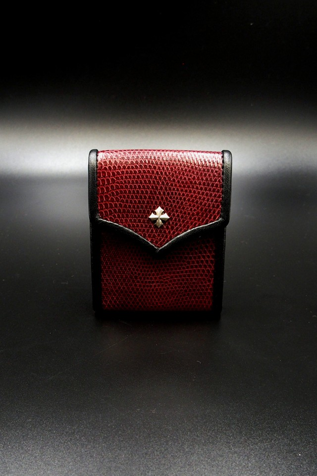 Item No.0182 :Small rich coin case1/Lizard RED EC-S