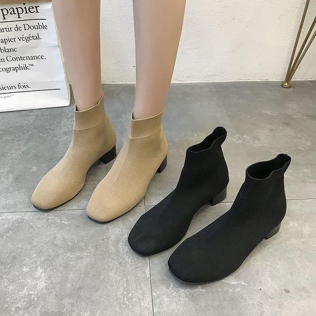 ソックスブーツ ハイカットブーツ 靴下シューズ SHS250201