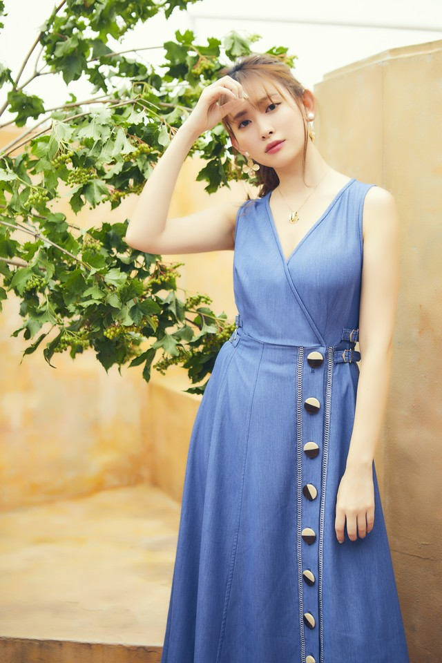 Tencel Denim Long Dress