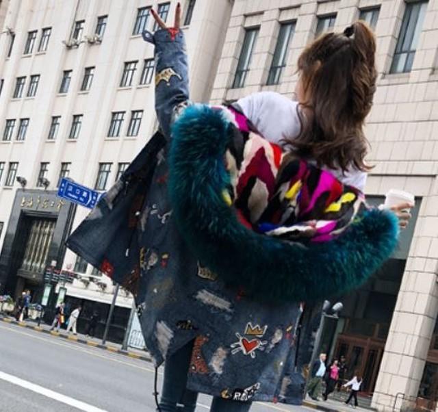 ビックファー カラーMIX ジャケットコート全8色