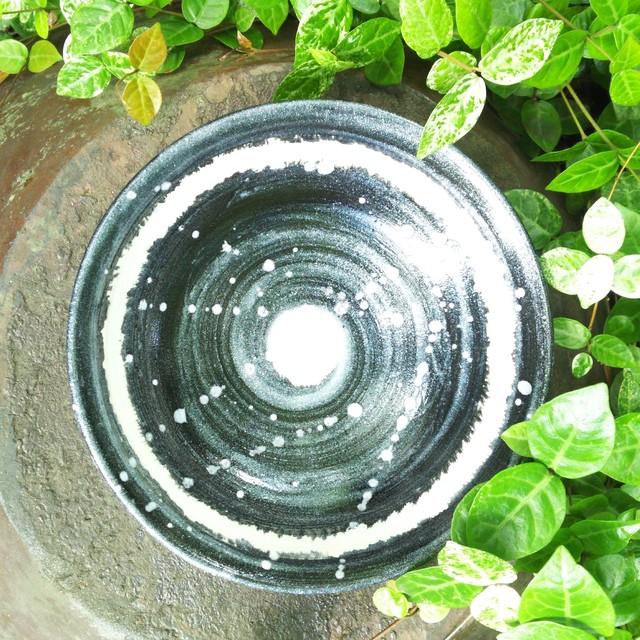 秀島窯作 光彩釉 銀河 小鉢 (ホワイト)