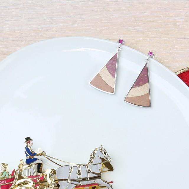 kinoiro 木と銀のスクエアペンダント ニューヨークチーズケーキカラー