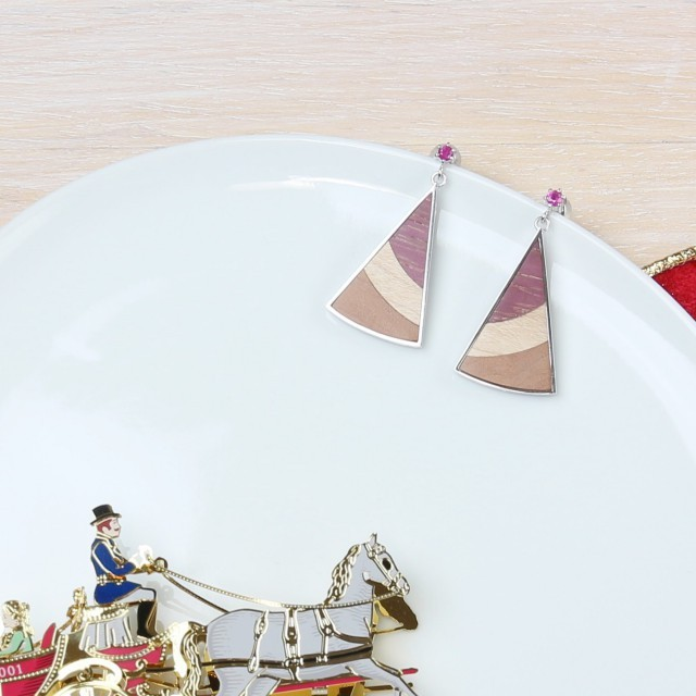 kinoiro 木と銀のスクエアペンダント ティラミスカラー