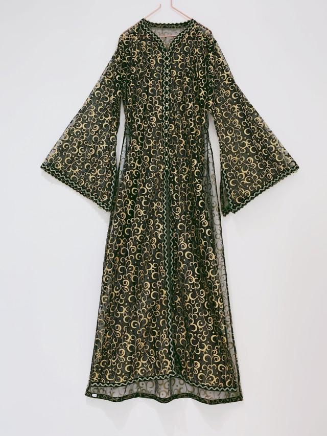 ◼︎90s glitter sheer long Caftan dress from U.S.A◼︎