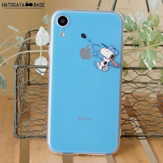 スヌーピーiPhoneケース SNOOPY BASEBALL [iPhoneXR/8/7/7Plus/6s/6sPlus/SE]