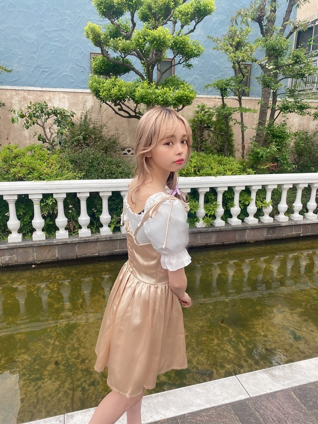 【LAST1】princess shirring blouse