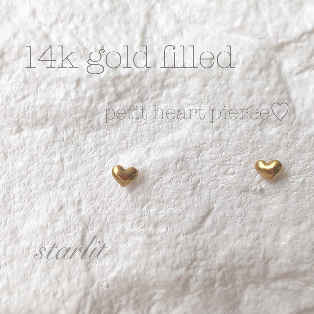 14kgf 》Mini heart ♡ Post pierce