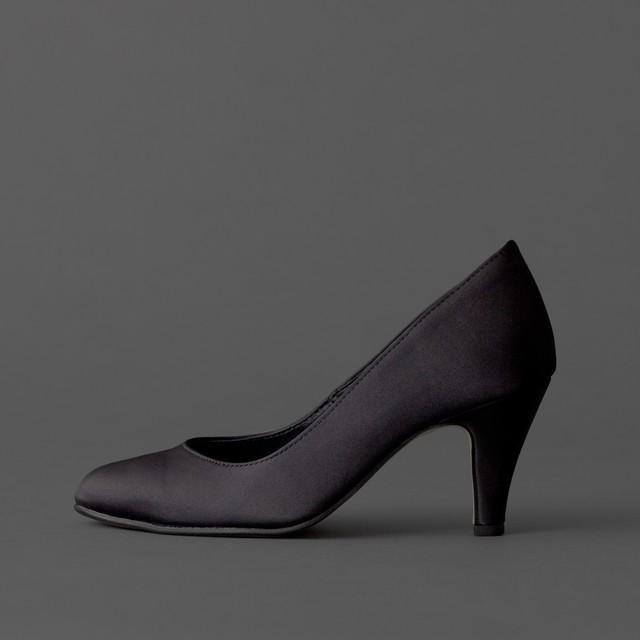 Satin / Close Toe / 7cm / BK 【7001 BK】