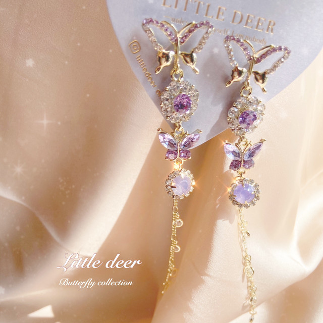 pure butterfly long ピアス b0344