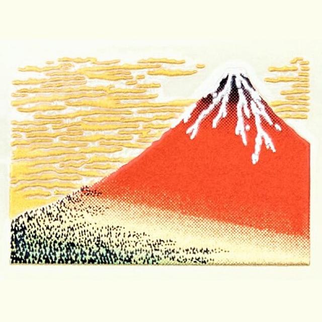 北斎・赤富士 うつし金蒔絵シール [一般柄]