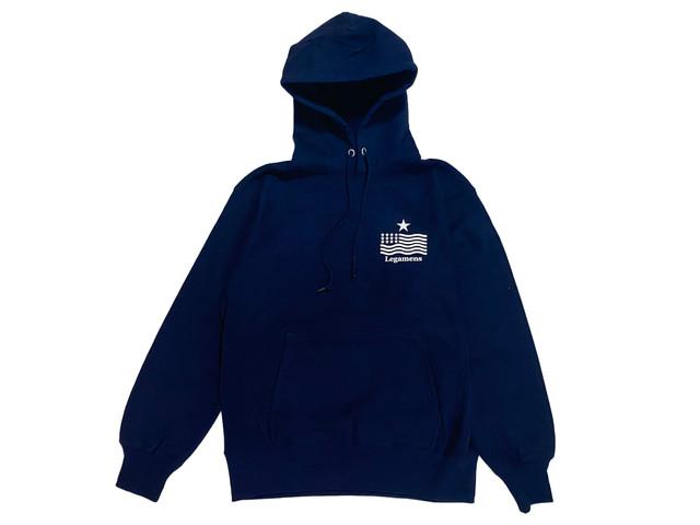 1/16[土]再販【STAR logo hoodie】 / navy