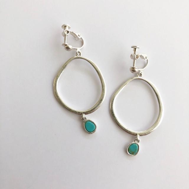 (即納) matte hoop earring silver (ノンニッケル)