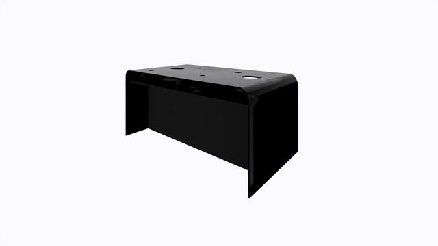 ターブル・ペルフォレ (黒) - Table Perforée (Black)-Width 1600mm