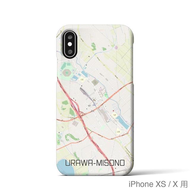 【浦和美園】地図柄iPhoneケース(バックカバータイプ・ナチュラル)