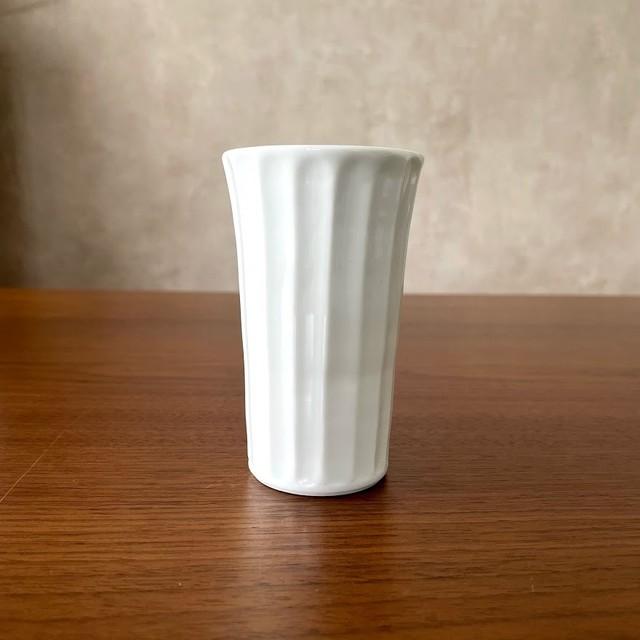 【波佐見焼】白磁手彫竹林 ピルスナー