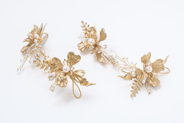 Gilded grecian wings hairpin set of 3 / Twigs & Honey